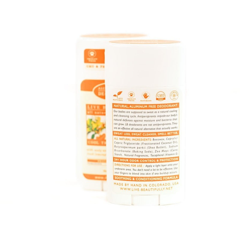 Cool Tropical Citrus - Natural Deodorant - Aluminum Free - TheArtsyBox