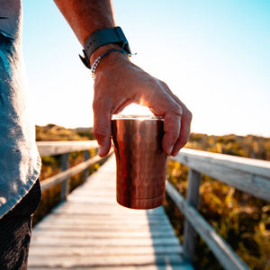 12 oz Hammered Copper Stainless Steel Tumbler