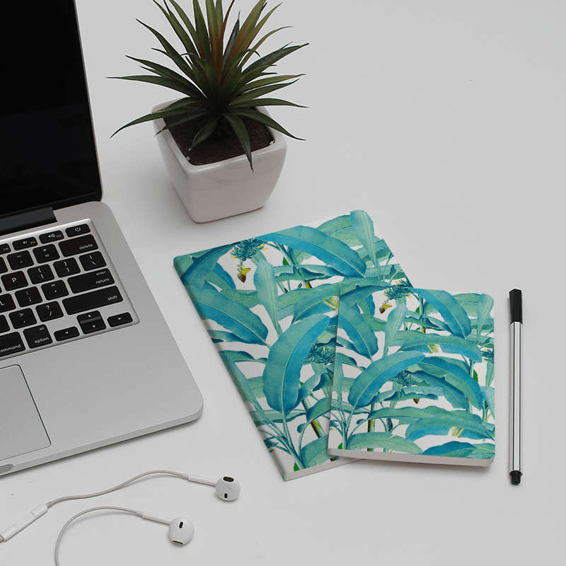 Banana Forest A5 Notebook Plain - TheArtsyBox