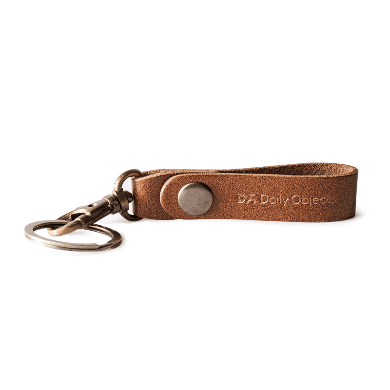 Brown Real Leather Keychain - TheArtsyBox