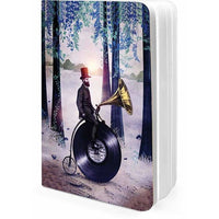 Music Man In The Forest A5 Notebook Plain - TheArtsyBox