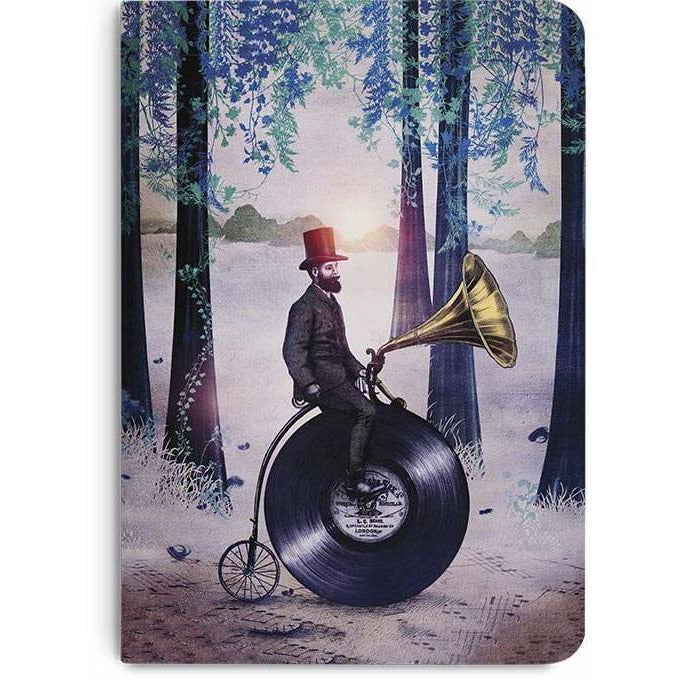 Music Man In The Forest A5 Notebook Plain