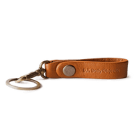 Tan Real Leather Keychain - TheArtsyBox