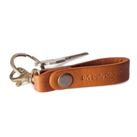 Tan Real Leather Keychain