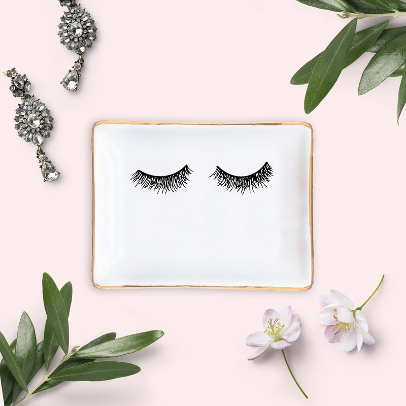 Eyelashes Jewelry Dish