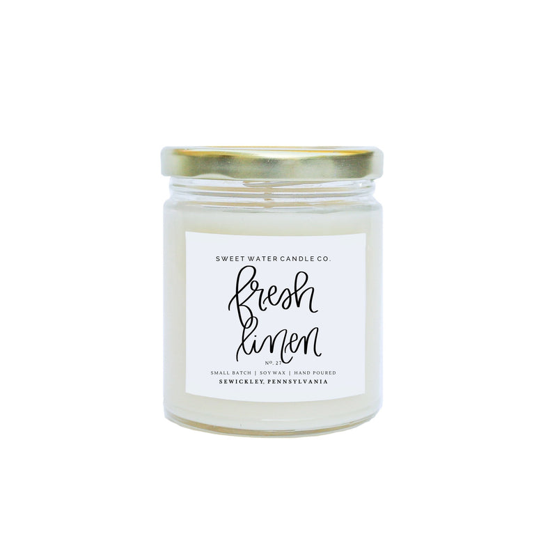 Fresh Linen Soy Candle -16oz - TheArtsyBox
