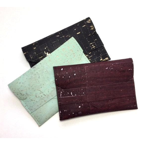 Cork card wallet