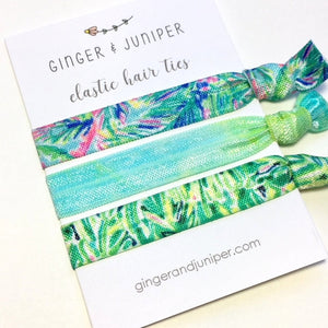 Hair Ties set - Blue Mix