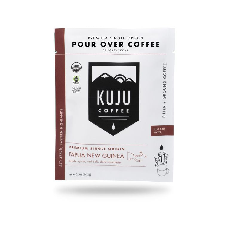 Papa new guinea pour over coffee