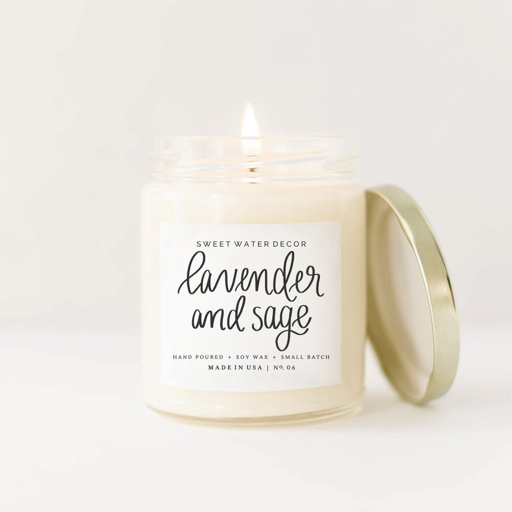 Lavender + Sage Soy candle - 16 oz - TheArtsyBox