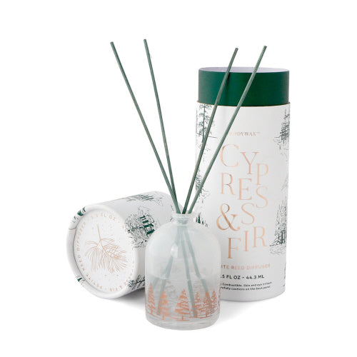 Cypress & fir white petite reed diffuser