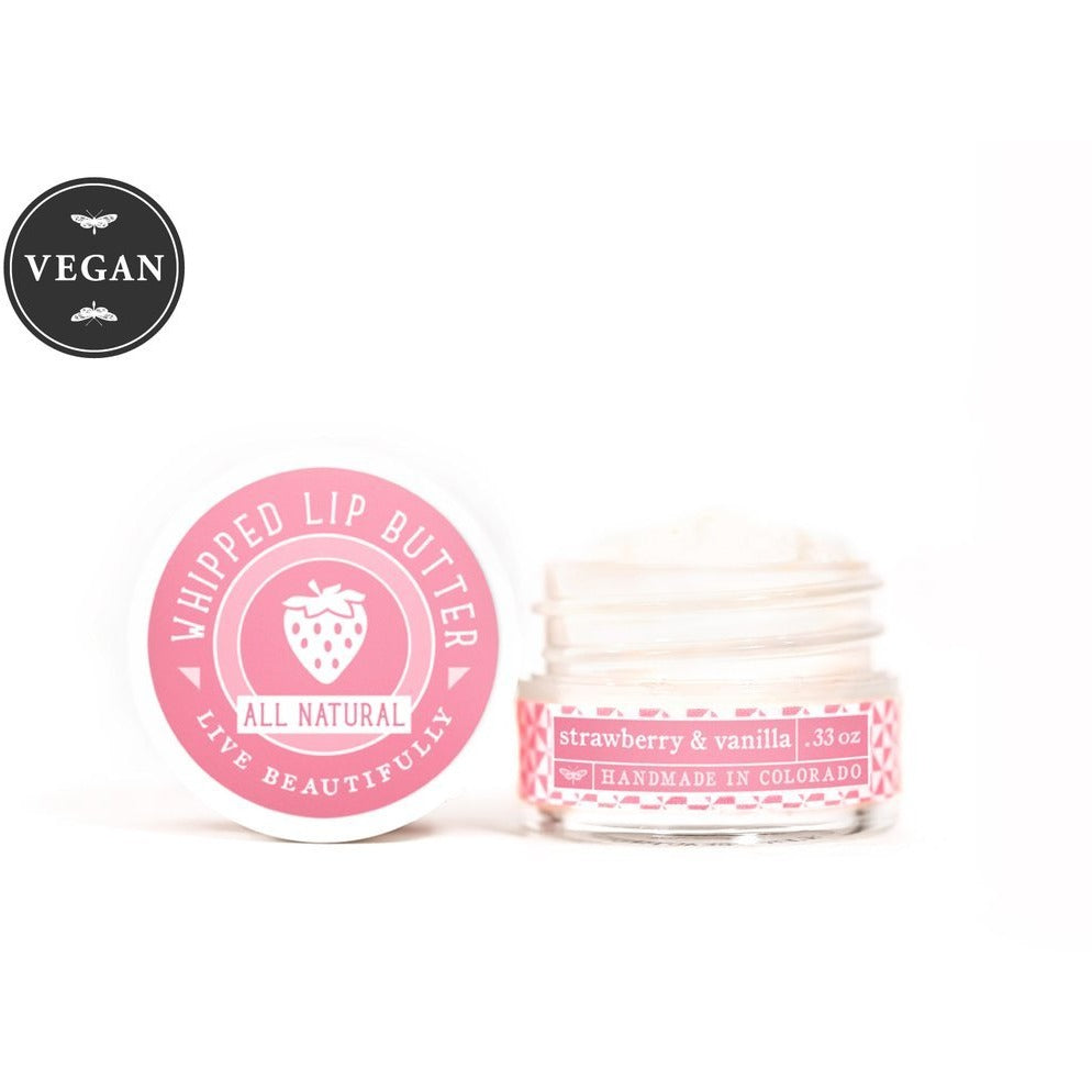 Strawberry & Vanilla - Whipped Lip Butter - Natural Icing for Your Lips - TheArtsyBox