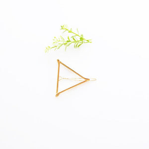 Adult Hair Barrette - Gold Triangle - TheArtsyBox