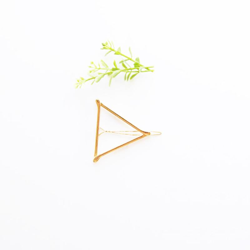 Adult Hair Barrette - Gold Triangle