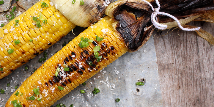 Grilled Kahuku Corn with Kona Hawaiian Sea Salt