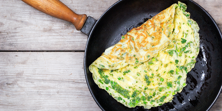 Farmers Market Fresh Herb Omelet with Hawaiian Chili Pepper Salt