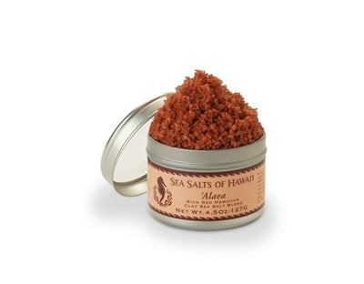 Alaea Rich Red Hawaiian Clay Sea Salt Blend - 4.5 ounce tin