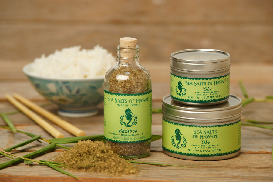 Bamboo Green Hawaiian Sea Salt with certified organic bamboo extract