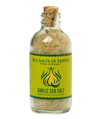 Garlic Hawaiian Sea Salt - 4 ounce bottle