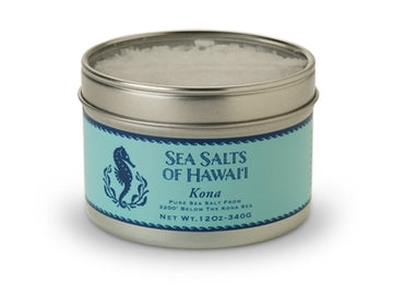 Pure Hawaiian Kona Sea Salt in 3.5 oz tin