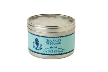 Kona Pure Hawaiian Sea Salt in 7oz tin