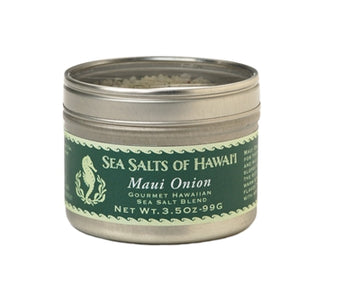 Maui Onion Flavored Hawaiian Sea Salt in 4oz Tin