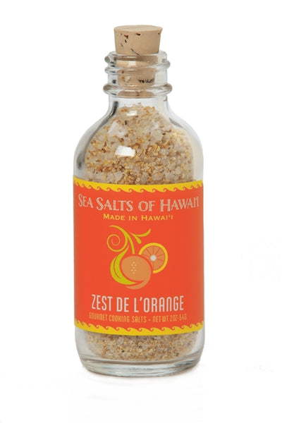 Pure Hawaiian Gourmet Sea Salt with Orange and Lemon Zest