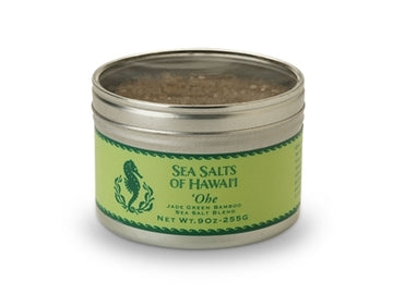 'Ohe Green Bamboo Hawaiian Sea Salt Blend - 9 ounce tin