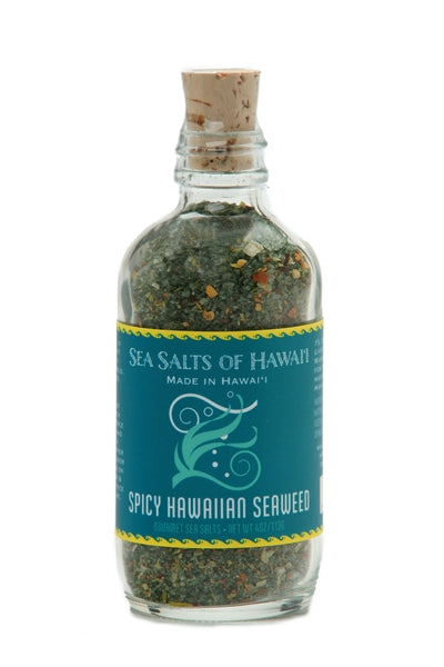 Gourmet Hawaiian Sea Salt with Spicy Seaweed for Poke Bowls