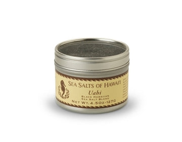 4.5oz tin of Black Hawaiian Sea Salt