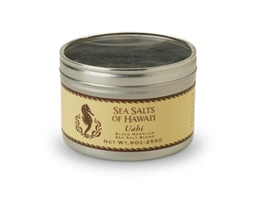 Uahi Black Hawaiian Sea Salt Blend - 9 ounce tin