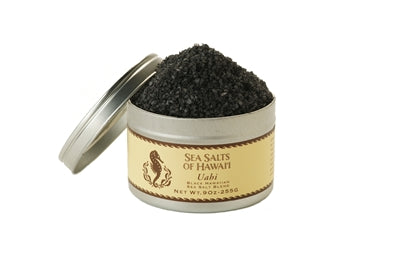 Black Hawaiian Gourmet Sea Salt with Activated Charcoal