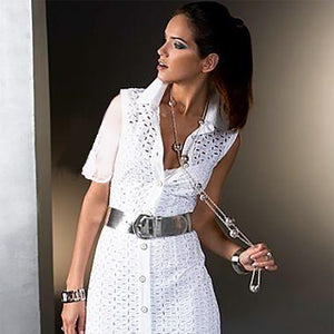 White Attachable Flutter Sleeves-White / One Size-Sleeves 2 Go