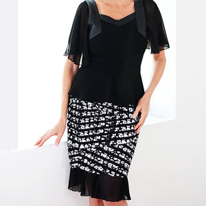 Sheer Slip Extender-XL / Black-Sleeves 2 Go