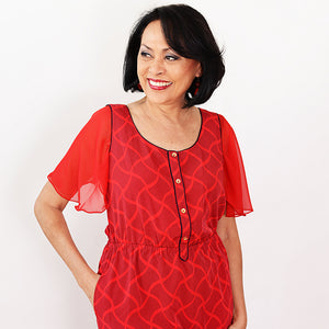 Red Attachable Flutter Sleeves-One Size / Red-Sleeves 2 Go