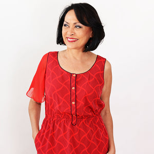 Red Attachable Flutter Sleeves--Sleeves 2 Go