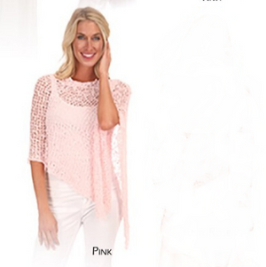 Knit Poncho-Pale Pink-Sleeves 2 Go