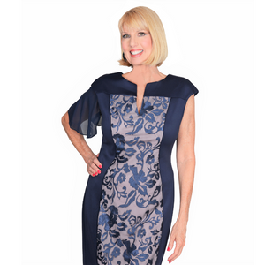 Navy Attachable Flutter Sleeves--Sleeves 2 Go