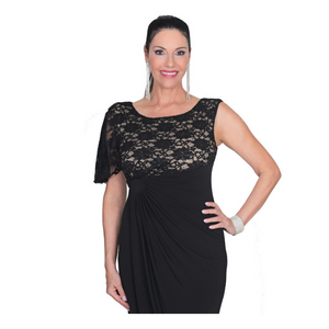 Black Lace Attachable Sleeves--Sleeves 2 Go