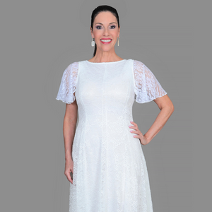 White Lace Attachable Sleeves--Sleeves 2 Go
