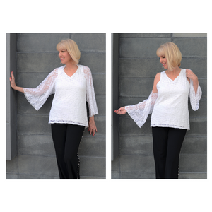 The Shrug & Scarf-White Lace Shrug / One Size-Sleeves 2 Go