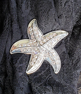 Magnetic Brooch-Sparkle Starfish-Sleeves 2 Go