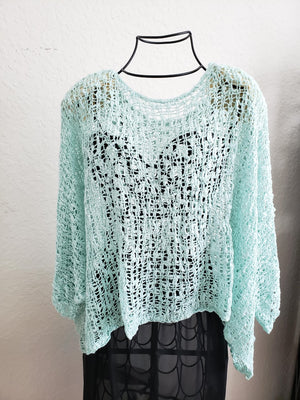 Knit Crop Top-Mint / one size-Sleeves 2 Go