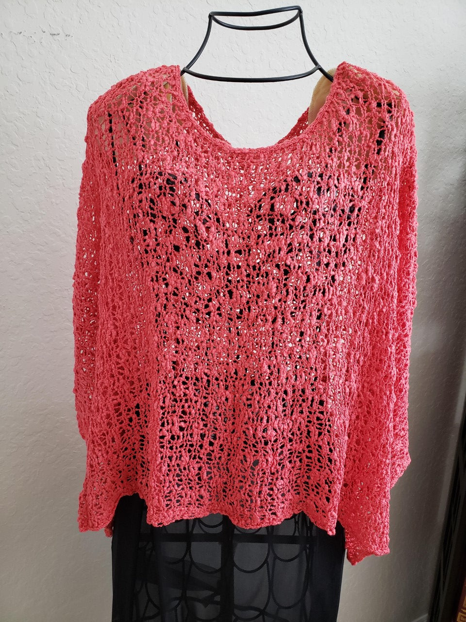 Knit Crop Top-Coral / one size-Sleeves 2 Go