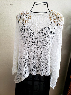 Knit Crop Top-white / one size-Sleeves 2 Go