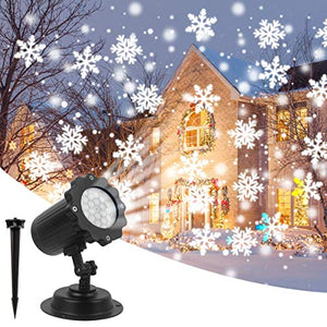 Christmas Projector Lightwaterproof Led Night Lights Snowflake