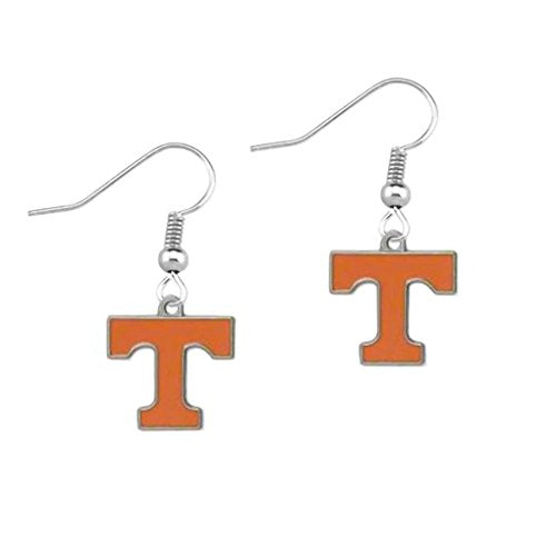 T Logo Dangle Earrings