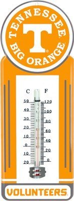 Tennessee Volunteers  Metal Outdoor Thermometer
