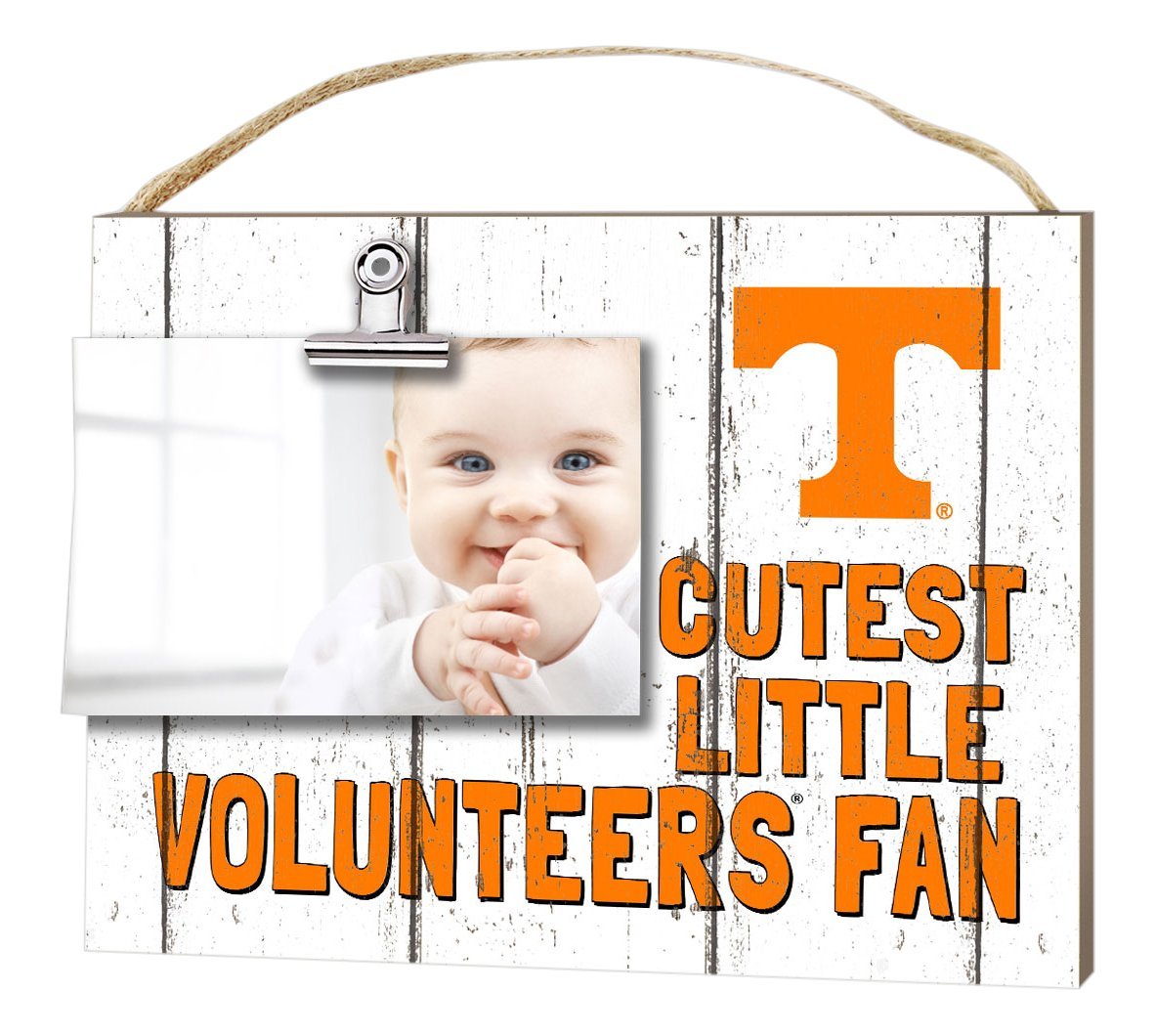KH Sports Fan 10x8 Tennessee Volunteers Clip It Weathered Baby Logo Collage Photo Frame White
