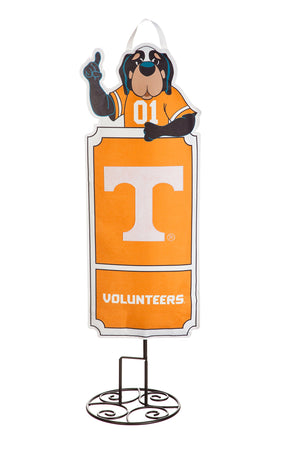 Large 3 Feet Tall Tennessee Volunteers Smokey Outdoor Safe Felt Garden and Tailgate Stake